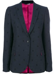 Paul Smith Ps By Polka Dot Blazer Women Cotton Acrylic Nylon Viscose 42 Blue