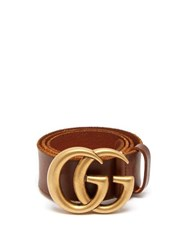 Gucci Gg Textured Leather Belt Brown