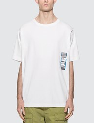 Uniform Experiment Baggage Tag Wide T Shirt White