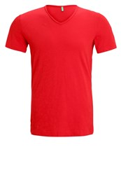 United Colors Of Benetton Basic Tshirt Pink Dark Red
