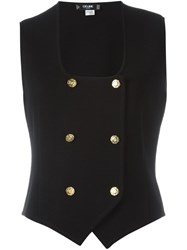 Celine Vintage Double Breasted Waistcoat Black