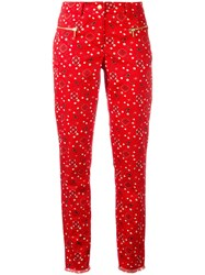 Michel Klein Paisley Print Cropped Trousers Red