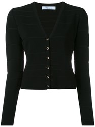 Blumarine V Neck Cropped Cardigan Black