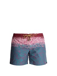 Thorsun Titan Fit Clay Print Swim Shorts Red