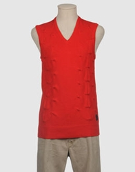 Raf Simons Fred Perry Sweater Vests Blue