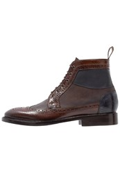 Melvin And Hamilton Matthew 9 Laceup Boots Chocolat Kudu Mocca Night Sky Navy Brown