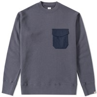 Head Porter Plus Pocket Sweat Blue