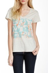 Boy Meets Girl V Neck Tee Beige