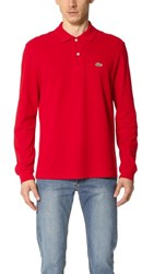 Lacoste Long Sleeve Classic Polo Shirt Red
