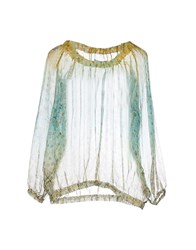 Replay Shirts Blouses Women Light Green