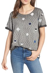 Scotch And Soda Eclipses Round Neck Tee Burned Out Grey