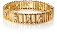 Mahnaz Collection Vintage Women's White Diamond And Yellow Gold Bracelet Gold