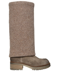 Strategia 40Mm Suede And Wool Felt Boots Nut