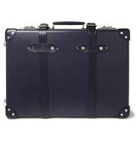 Globe Trotter 20 Leather Trimmed Carry On Suitcase Navy