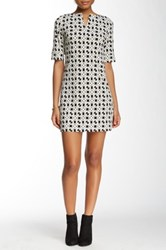 Laundry By Shelli Segal Elbow Length Sleeve Printed Dress Petite Gray