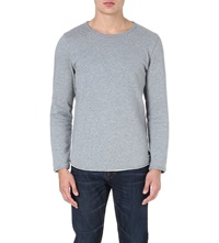 Tiger Of Sweden Raw Edge Cotton Sweatshirt Grey