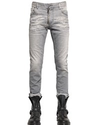 Just Cavalli 17.5Cm Washed Stretch Denim Jeans