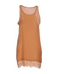 Nioi Dresses Short Dresses Women Brown
