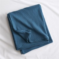 Cb2 Hive Blue Green King Blanket