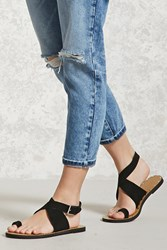 Forever 21 Faux Suede Toe Ring Sandals