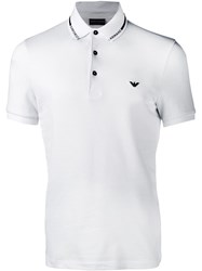 Emporio Armani White Polo Top