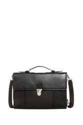 Cole Haan Double Gusset Briefcase Black
