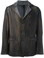 Avant Toi Three Button Blazer Brown