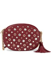 Michael Michael Kors Ginny Embellished Textured Leather Shoulder Bag
