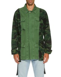 Off White Camo Over Dyed Field Jacket Olive