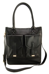 Erica Anenberg Madison Genuine Leather Tote Black