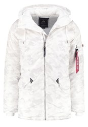 Alpha Industries Parka White Camo