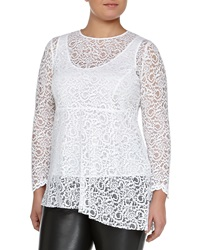 Marina Rinaldi Facilita Long Sleeve Lace Tunic Women's