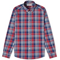 Barbour Country Check Shirt Red