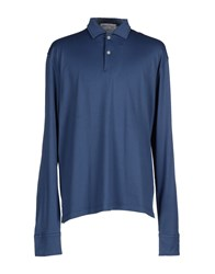 Lorenzo Uomo Topwear Polo Shirts Men Slate Blue