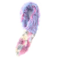 Supersweet X Moumi Cotton Candy Faux Fur Stole Blue Pink Purple