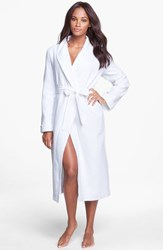 Women's Nordstrom Lingerie Terry Lined Waffle Robe White