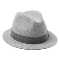 Loro Piana Kirk Hare And Cashmere Blend Felt Trilby Light Gray