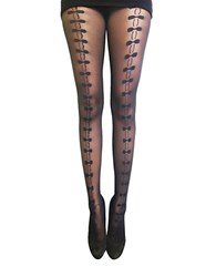 Zac Posen Front Bow Fashion Tights