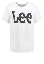 Lee Print Tshirt White