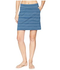 Icebreaker Yanni Merino Skirt Combed Lines Prussian Blue Snow