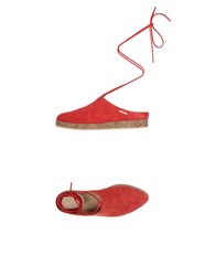 Vicini Tapeet Mules Red