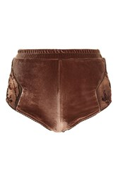 Topshop Burnout High Waisted Knicker By Somedays Lovin' Rust