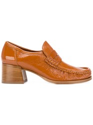 Lathbridge By Patrick Cox Stacked Heel Loafers Brown
