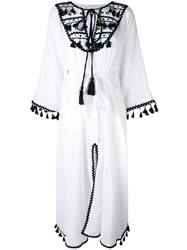 Dodo Bar Or Embroidered Shirt Dress Women Cotton One Size White