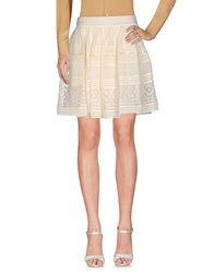 Alice By Temperley Mini Skirts Ivory