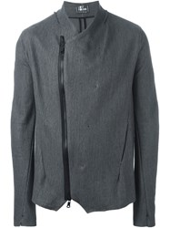 Lost And Found Off Centre Zip Jacket Grey
