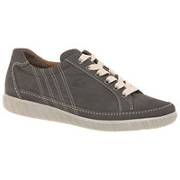 Gabor Amulet Wide Fitting Lace Up Flat Heeled Trainers Fumo Nubuck