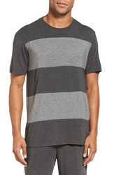 Daniel Buchler Men's Stretch Stripe Crewneck T Shirt