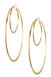Trina Turk Double Hoop Earrings Metallic