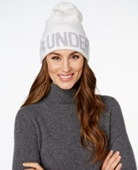Under Armour Graphic Pom Pom Beanie Ivory Air Force Grey Heather